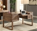 Hickory Creek 60 Inch Writing Desk with Power Center in Vintage Honey Finish by Parker House - HIC-985