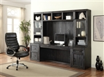 Hudson 6 Piece Home Office Wall in Vintage Midnight Finish by Parker House - HUD-06-OFFICE