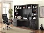 Hudson 6 Piece Home Office Wall in Vintage Midnight Finish by Parker House - HUD-6-OFFICE
