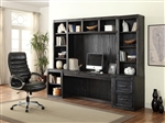 Hudson 6 Piece Home Office Wall in Vintage Midnight Finish by Parker House - HUD-6-SET
