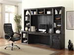 Hudson 6 Piece Home Office Wall in Vintage Midnight Finish by Parker House - HUD-6-SET02