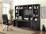 Hudson 6 Piece Home Office Wall in Vintage Midnight Finish by Parker House - HUD-6-SET2