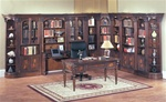 Huntington 11 Piece Library Wall in Chestnut Finish by Parker House - HUN-420-11