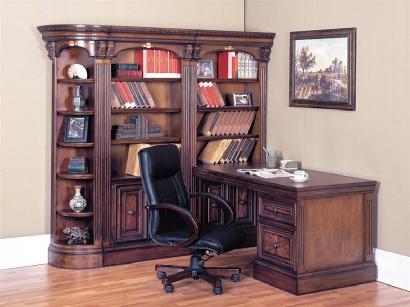 Home Office Sets Painted Office 5 Piece: Huntington 5 Piece Corner Peninsula Desk Wall Unit In