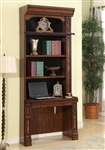 Leonardo 2 Piece Library Desk in Antique Vintage Dark Chestnut Finish by Parker House - LEO-460-2