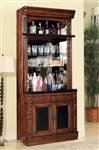 Leonardo 2 Piece Bar Unit in Antique Vintage Dark Chestnut Finish by Parker House - LEO-465-2