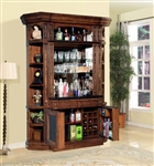 Leonardo 4 Piece Bar Unit in Antique Vintage Dark Chestnut Finish by Parker House - LEO-465-2-4