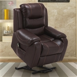 Brahms Reclining Lift Chair in Mahogany Cover by Parker House - MBRA-812L1-MAH