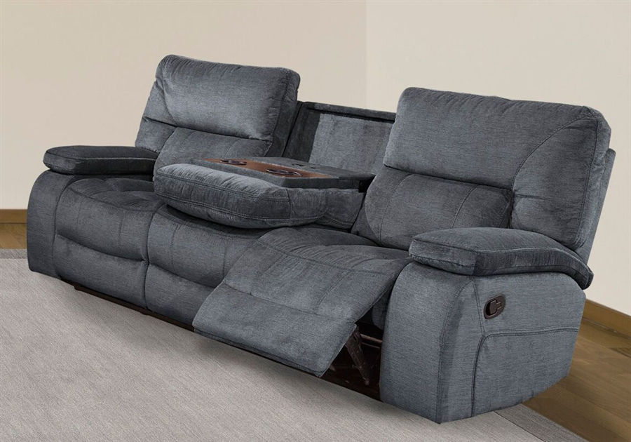 Chapman Manual Dual Reclining Sofa With Drop Down Console In Polo