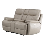 Dylan Creme Dual Power Reclining Entertainment Loveseat by Parker House - MDYL-822CP-CRE