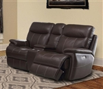 Dylan Mahogany Dual Power Reclining Entertainment Loveseat by Parker House - MDYL-822CP-MAH