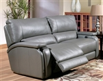 Grisham Power Dual Reclining Sofa in Heron Grey Leather by Parker House - MGRI-832P-HE