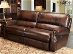 Hawthorne Power Dual Reclining Sofa in Brown Tri Tone Leather by Parker House - MHAW-832P-BR