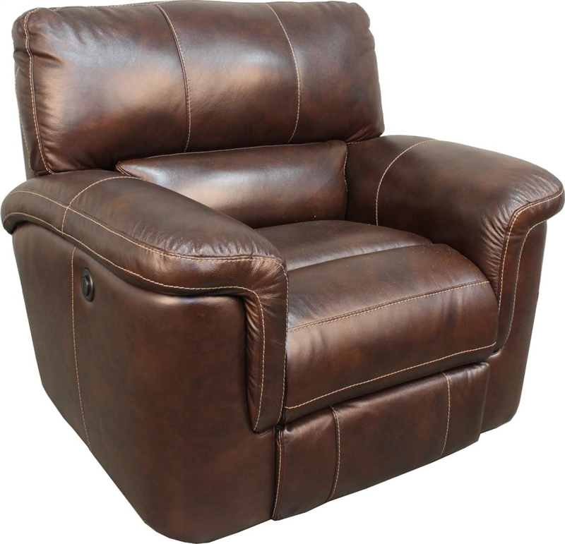 Hitchcock Power Dual Reclining Loveseat In Cigar Leather By Parker House Mhit 822p Ci