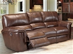 Hitchcock Power Dual Reclining Sofa in Cigar Leather by Parker House - MHIT-832P-CI
