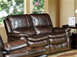 Juno Power Reclining Loveseat in Nutmeg Synthetic Leather by Parker House - MJUN-822P-NU
