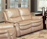 Juno Power Reclining Loveseat in Sand Synthetic Leather by Parker House - MJUN-822P-SA