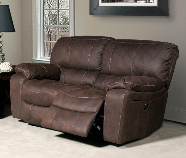 Jupiter Dual Reclining Loveseat In Dark Kahlua Synthetic Leather By Parker House Mjup 822 Dk