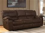 Jupiter Dual Reclining Sofa in Dark Kahlua Synthetic Leather by Parker House - MJUP-832-DK