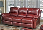 Lewis Power Dual Reclining Sofa in Lipstick Leather by Parker House - MLEW-832P-LI