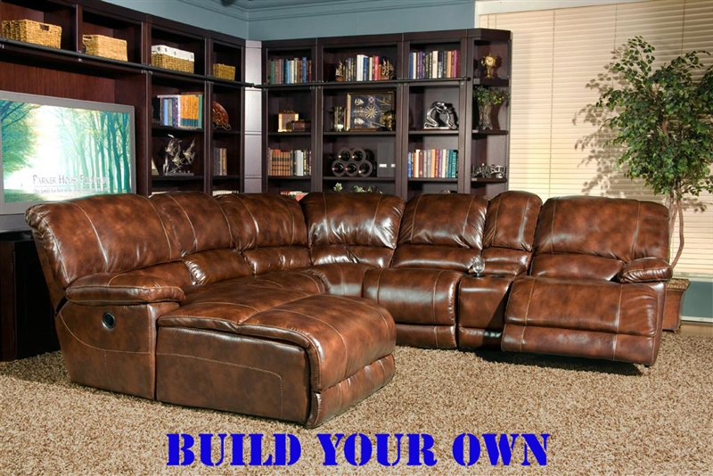 Mars Coffee Leather BUILD YOUR OWN Reclining Sectional by Parker House - MMAR-811-CO-M : build your sectional - Sectionals, Sofas & Couches