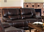 Pegasus Power Dual Reclining Loveseat in Nutmeg Synthetic Leather by Parker House - MPEG-822P-NU