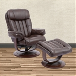 Prince Swivel Recliner with Ottoman in Robust Leather by Parker House - MPRI-212S-ROB