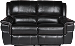 Python Power Dual Reclining Loveseat in Black Synthetic Leather by Parker House - MPYT-822P-BK