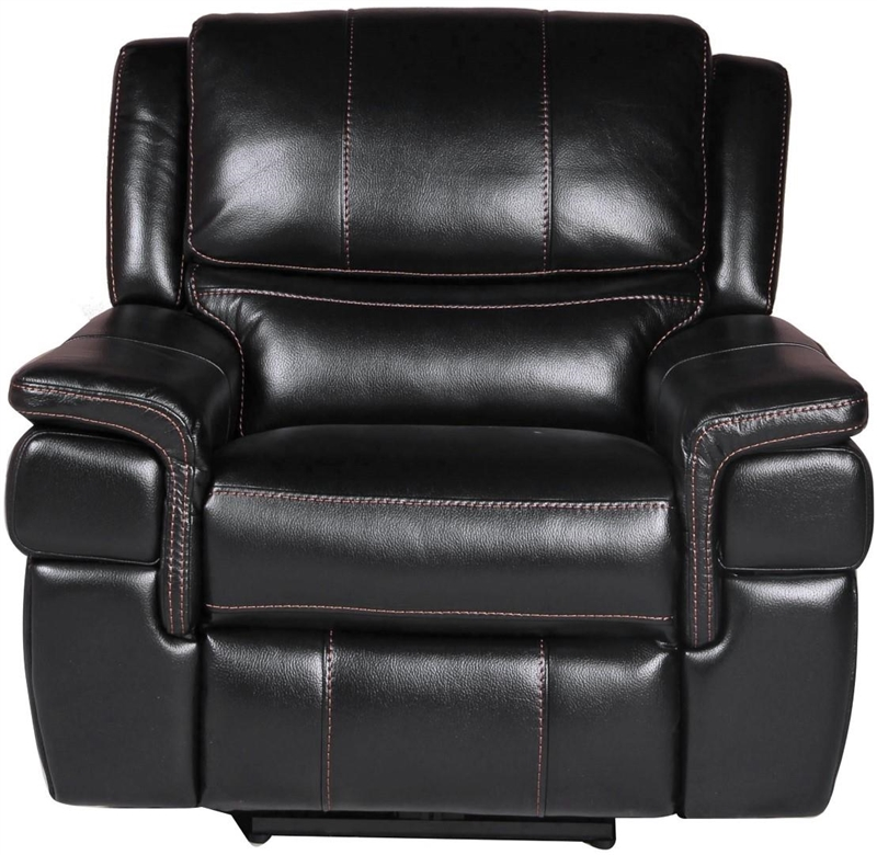 Python Power Dual Reclining Loveseat In Black Synthetic Leather By Parker House Mpyt 822p Bk