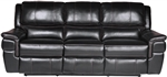 Python Power Dual Reclining Sofa in Black Synthetic Leather by Parker House - MPYT-832P-BK