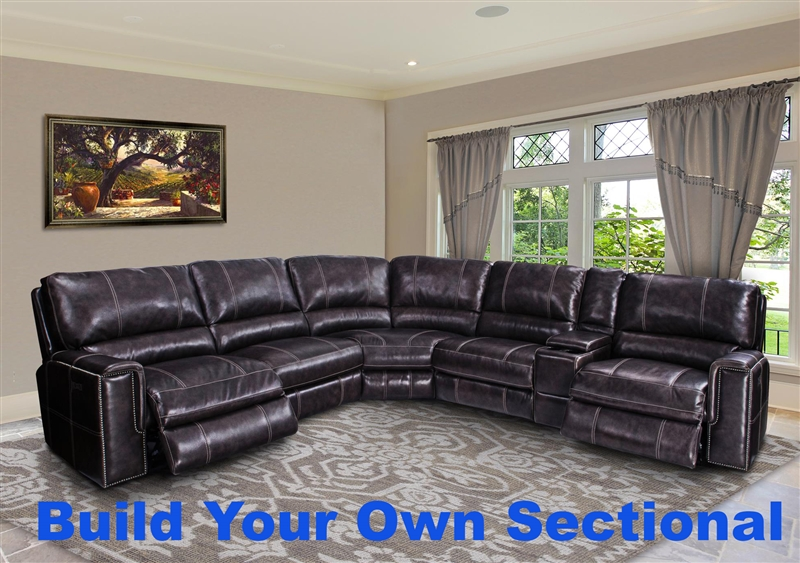 Salinger Build Your Own Sectional Twilight Leather By