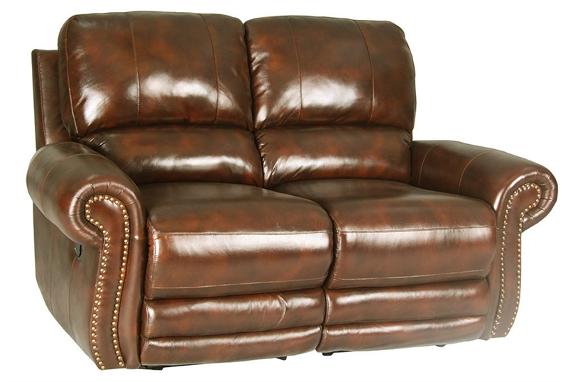 Thor Tobacco Leather Dual Reclining Loveseat By Parker House Mtho 822 To