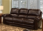 Thurston Power Dual Reclining Sofa in Havana Leather by Parker House - MTHU-832P-HA