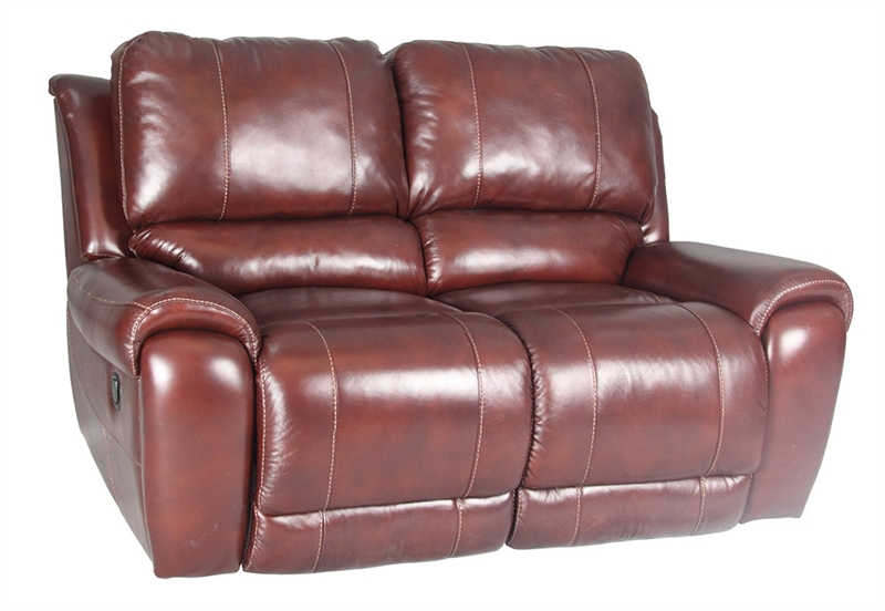 Titan Dark Burgundy Leather Dual Reclining Loveseat By Parker House Mtit 822 Db