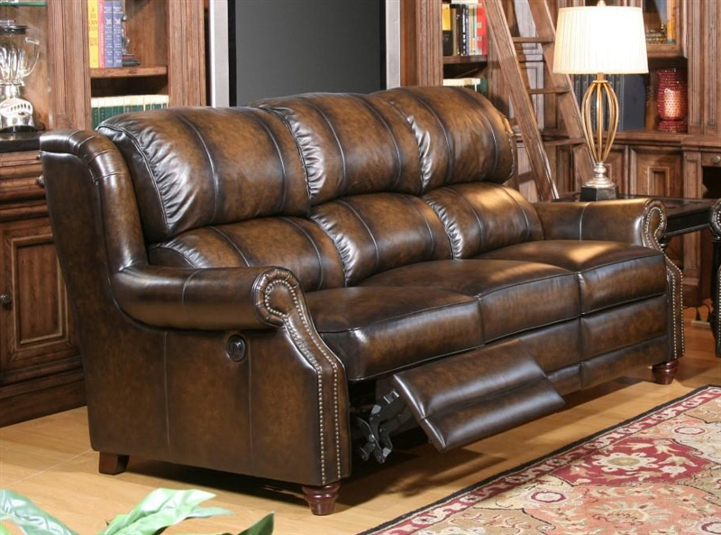 Twain Power Dual Reclining Sofa In Brown Black Two Toned