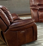 Vail Power Recliner with Power Headrest and USB Port in Burnt Sienna Leather by Parker House - MVAI-812PH-BUR