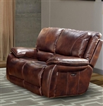 Vail Power Dual Reclining Loveseat with Power Headrests and USB Port in Burnt Sienna Leather by Parker House - MVAI-822PH-BUR