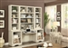 Nantucket 6 Piece Modular Library Wall Home Office Set in Vintage Burnished Artisan White Finish by Parker House - NAN-970-6
