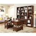 Napa 7 Piece Modular Home Office Set in Bourbon Finish by Parker House - NAP-970-SET