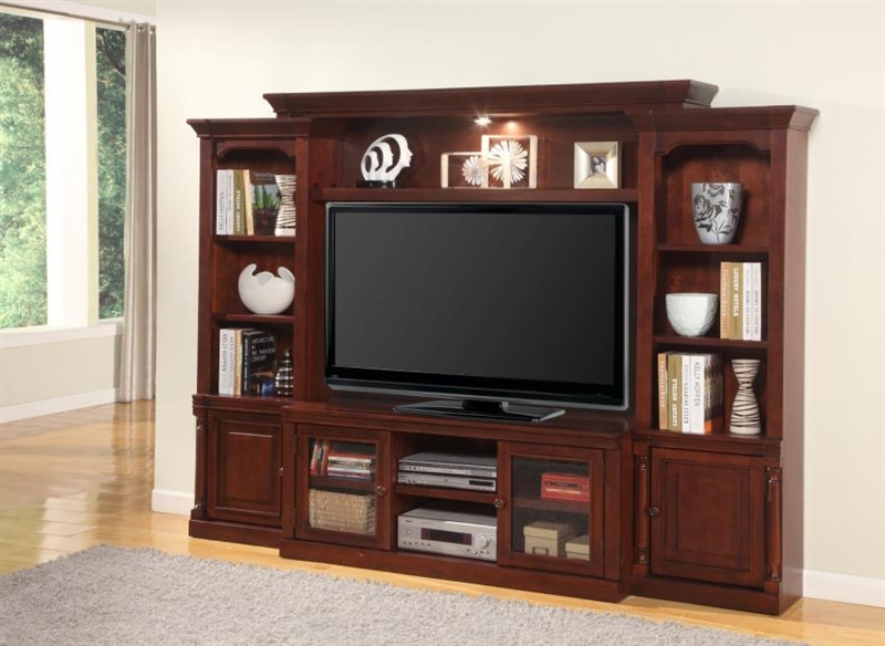 Andrews 57 Inch Tv 4 Piece Premier Wall Unit In