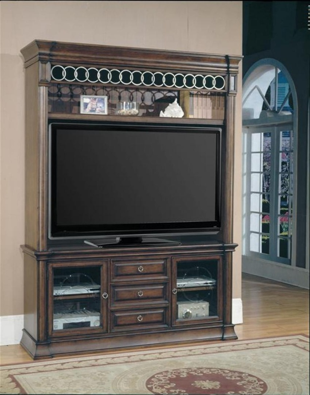 park place 60 inch tv entertainment center in brown finish by parker house 600 3ec. Black Bedroom Furniture Sets. Home Design Ideas