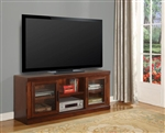Athens 57-Inch TV Console in Antique Light Vintage Chocolate Finish by Parker House - PAT-150