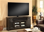Ridgecrest 62 Inch TV Console in Antique Vintage Charcoal Finish by Parker House - RID-62