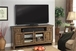 Riverbend 62 Inch TV Console in Antique Vintage Smoked Pine Finish by Parker House - RIV-62