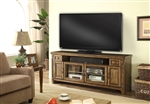 Riverbend 72 Inch TV Console in Antique Vintage Smoked Pine Finish by Parker House - RIV-72