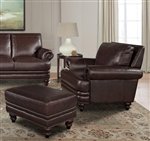 Hunter Chair in Sienna Leather by Parker House - SHUN-912-SI