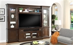 Stanford 4 Piece Entertainment Wall in Light Vintage Sherry Finish by Parker House - STA-100-4