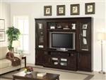Stanford 4 Piece Entertainment Wall in Light Vintage Sherry Finish by Parker House - STA-405-4