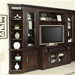 Stanford 6 Piece Entertainment Wall in Light Vintage Sherry Finish by Parker House - STA-405-6