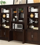 Stanford 4 Piece Library Desk Bookcase Wall in Light Vintage Sherry Finish by Parker House - STA-463-04